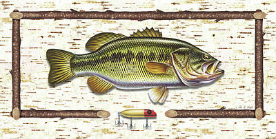 Tackle Painting - Birch Bass by JQ Licensing