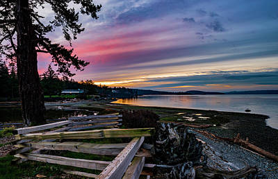 Photograph - Birch Bay Sunrise by Bob VonDrachek