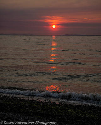 Photograph - Birch Bay Sunset by James Dudrow