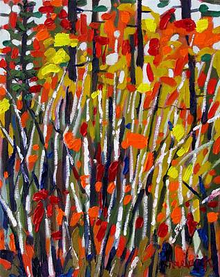 Ipap Painting - Birch Bouquet by Phil Chadwick