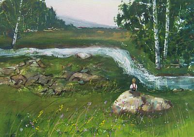Birch Creek Art Print