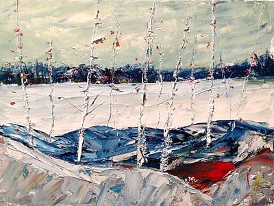 Painting - Birch Early Freeze Up by Desmond Raymond