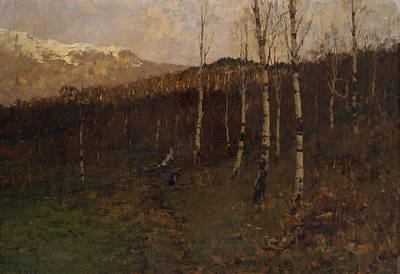 Italian Landscapes Painting - Birch Forest by Bartolomeo Bezzi