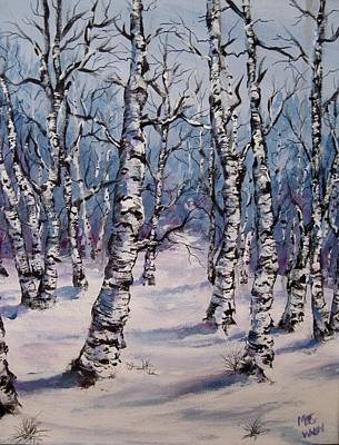 Painting - Birch Forest  by Megan Walsh