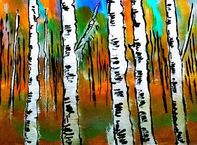 Painting - Birch Forest by Nikki Dalton