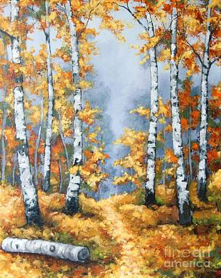 Painting - Birch Forest Path by Inese Poga