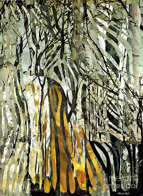 Mixed Media - Birch Forest by Sarah Loft