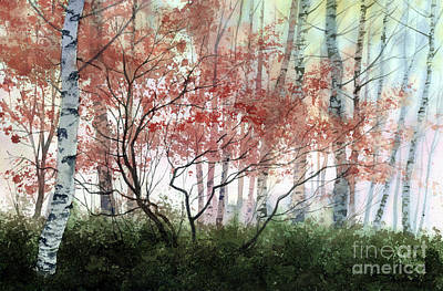 Painting - Birch Forest by Sergey Zhiboedov