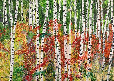 Painting - Birch Forest by Valerie Ornstein