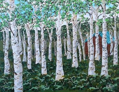 Painting - Birch Grove, Convict Lake Ca by Katherine Young-Beck