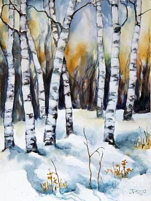 Painting - The White Of Winter Birch by Inese Poga
