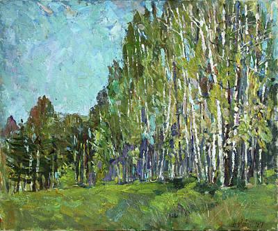 Painting - Birch Grove by Juliya Zhukova