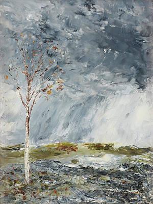 Painting - Birch In Autumn By August Strindberg 1902 by August Strindberg