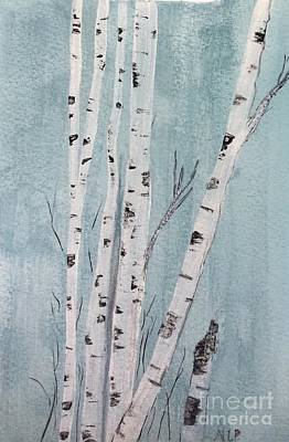 Painting - Birch In Early Winter by Nancy Pace