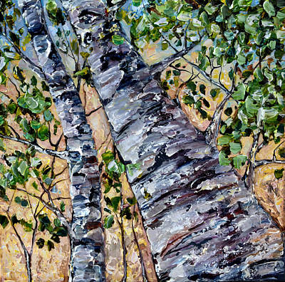 Painting - Birch In Spring by OLena Art Brand