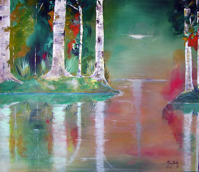 Painting - Birch Island by Gary Smith