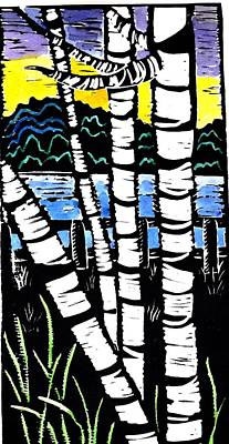 Birch Lake Art Print