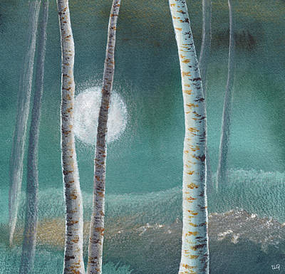 Painting - Birch Moon by Lisa Le Quelenec