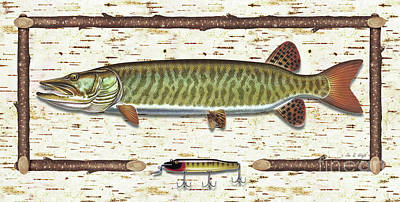Birch Musky Art Print by JQ Licensing