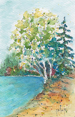 Painting - Birch On The Beach by Pat Katz