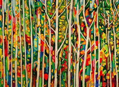 Painting - Birch Prism by Misuk Jenkins