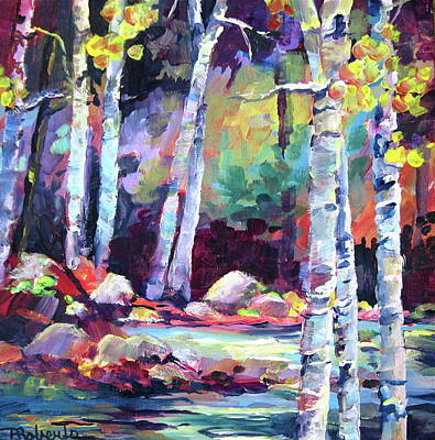 Painting - Birch River by Bonny Roberts