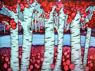 Painting - Birch River by Jennifer Allison