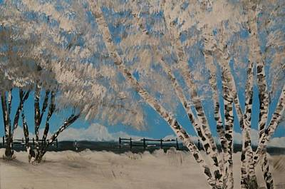 Painting - Birch Snow by Etta Harris
