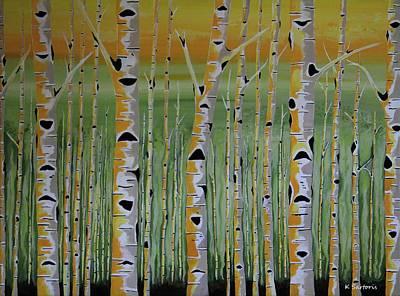 Painting - Birch Terrain by Kathleen Sartoris