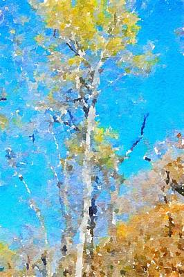 Painting - Birch Tree Abstract Watercolor by Leah Lambart