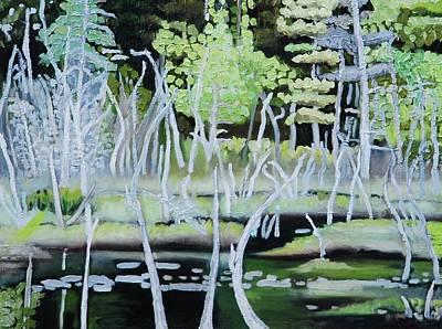 Painting - Birch Tree Boogie Woogie by Lynda Diamond
