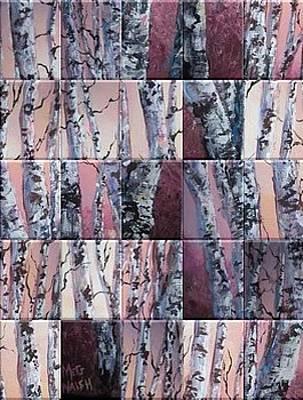 Digital Art - Birch Tree Collage by Megan Walsh