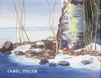 Painting - Birch Tree In Winter by Carol L Miller