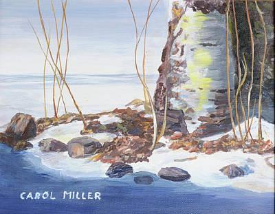 Painting - Birch Tree In Winter by Carol L Miller