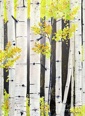 Painting - Birch Tree by Melly Terpening