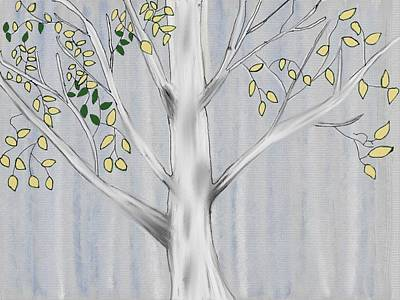 Digital Art - Birch Tree by Paula Brown