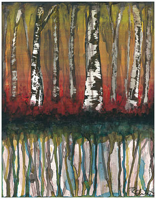 Birch Trees #2 Art Print by Rebecca Childs
