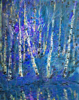 Painting - Birch Trees 3 by Viola El