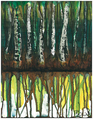 Birch Trees #3 Art Print by Rebecca Childs