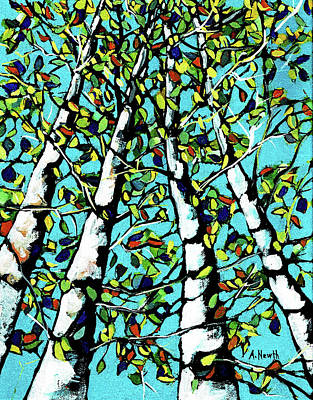Wall Art - Painting - Birch Trees by Alison Newth