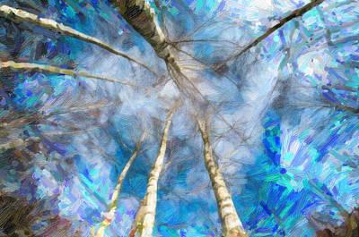 Fantasy Tree Art Painting - Birch Trees by Asar Studios