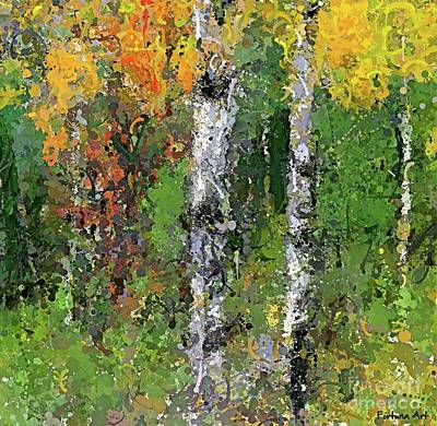 Rural Scenes Digital Art - Birch Trees by Dragica Micki Fortuna