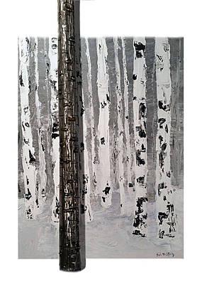 Birch Trees Original by Leslie McCafferty