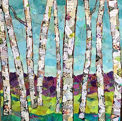Painting - Birch Trees by Phiddy Webb