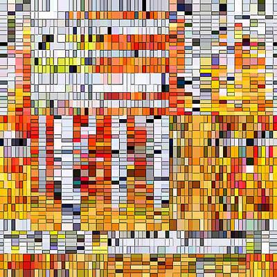 Digital Art - Birch Trees Reimagined by Susan Lafleur