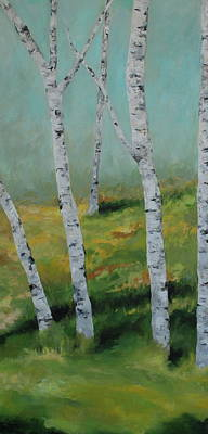 Painting - Birch Trees Side 1 by Cheryl Green