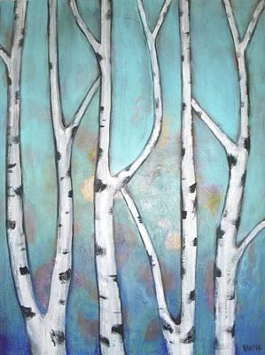 Wall Art - Painting - Birch Trees by Vesna Antic