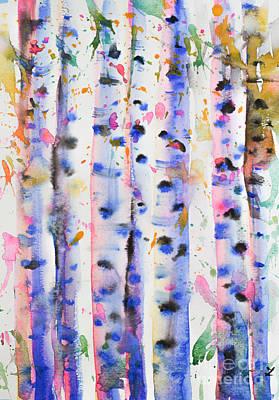 Painting - Birch Trees by Zaira Dzhaubaeva