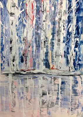 Painting - Birch Waterside  by Desmond Raymond