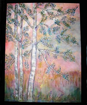 Birch Woods Sold Art Print by Laurie Alpert